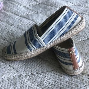 Tory Burch- Blue and White Espadrilles!